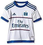 adidas Jungen Kurzarm Heimtrikot Hamburger SV Replica, White/HSV Blue, 164, S09293