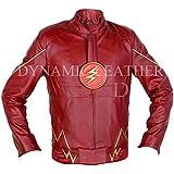 El flash Series, decrum Grant Gustin, Barry Allen de/sintética con una chaqueta de cuero
