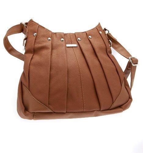 The Leather Emporium, Borsa tote donna Braun - Tan