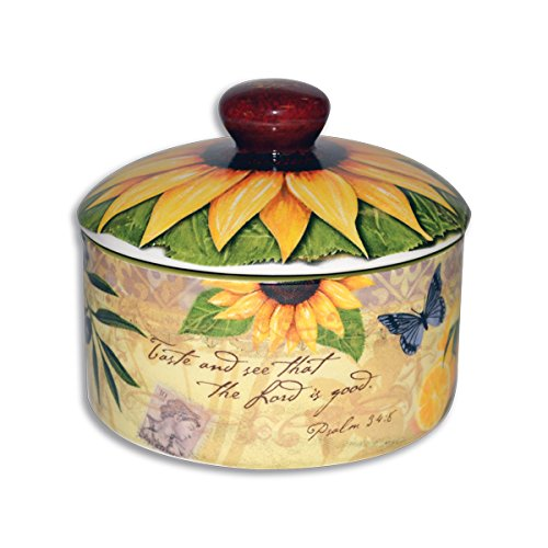 Divinity Boutique 23855 Bella Vita Sugar Bowl with Lid, Multicolor -