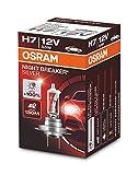 OSRAM NIGHT BREAKER SILVER H7, +100% mehr Helligkeit, Halogen-Scheinwerferlampe, 64210NBS, 12V Pkw, Faltschachtel (1 Lampe)
