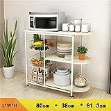 Küchenmöbel-WXP Regale Küchenregale Mikrowellenherd Creative Multifunktionslager Rack Standfuß WXP-Küchenschränke und Besteckschränke ( Farbe : D , stil : With pad )