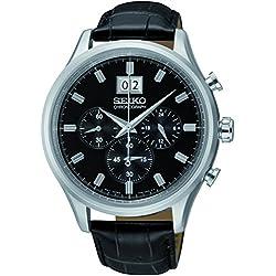 Seiko SPC083P2 - Reloj de cuarzo , correa de cuero color negro