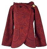 Guru-Shop Cape Boho Wickeljacke, Damen, Rot, Baumwolle, Size:L (40), Boho Jacken, Westen Alternative Bekleidung