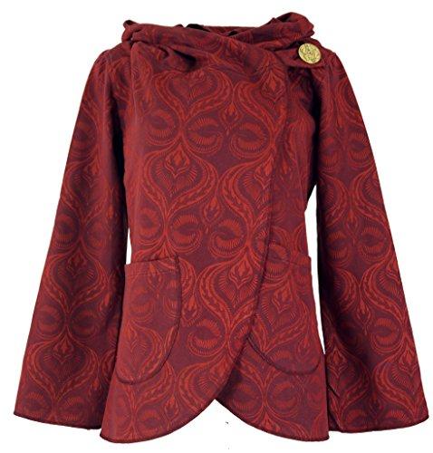 Guru-Shop Cape Boho Wickeljacke, Damen, Rot, Baumwolle, Size:XL (42), Boho Jacken, Westen Alternative Bekleidung