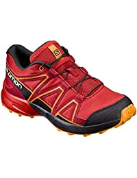 Salomon Speedcross J Fiery Red Black Bright Marigold
