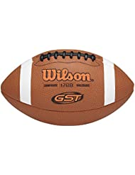 Wilson Ballon Football Américain, Utilisation récréative, Taille Officielle, GST OFFICIAL COMPOSITE, Brun, WTF1780XB