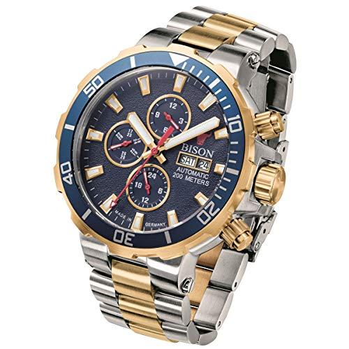 BISON No.1 Automatik Armbanduhr Kaliber 520 - BI0001GBLM