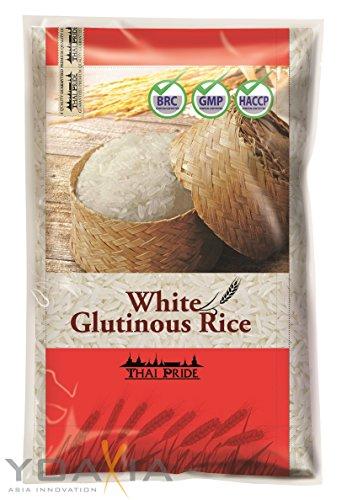 [ 5kg ] THAI PRIDE Weißer Klebreis (Langkornreis) / White Glutinous Rice (long grain)