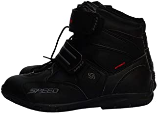 Backbayia Paar Motorrad Kurze knöchel Schuhe Anti Rutsch Sportschuhe Motorradrennen Schuhe