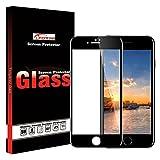 LFOTPP iPhone 6 Plus /6S Plus Protection d'écran, [4D Full Coverage] Verre Trempé Protecteur d'écran Protection pour Apple iPhone 6 Plus /6S Plus 5,5 Pouces[3D Touch compatible] 9H Dureté (Pack de 1 Noir)