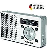 TechniSat Digitradio 1 portables DAB+ Radio (klein, tragbar, mit Lautsprecher, DAB+, UKW, Favoritenspeicher, OLED-Display) weiß/silber
