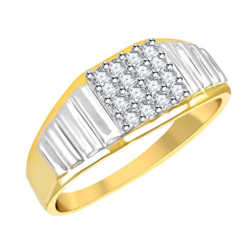Vidhi Jewels Gold Plated Antique Pattern Brass Finger Ring for Men [VFR300G]