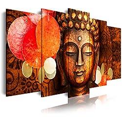 DekoArte Cuadro Moderno, Estilo Zen-Feng Shui Buda, Tela, Multicolor, 150x3x80 cm