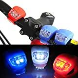 Kairos Bicycle LED Lights Cycle Bike Front & Rear Safety Set Taillight. High Beam-Flashing-Blinking. Water Resistant (Pack of 2)