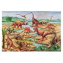 Melissa & Doug Dinosaurs Floor Puzzle (Extra-Thick Cardboard Construction, Beautiful Original Artwork, 48 Pieces, 60.96 cm x 91.44 cm)