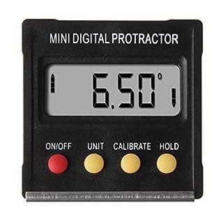 Mini Digital Inclinometer,360° Mini Digital Protractor Inclinometer Angle Meter with Base