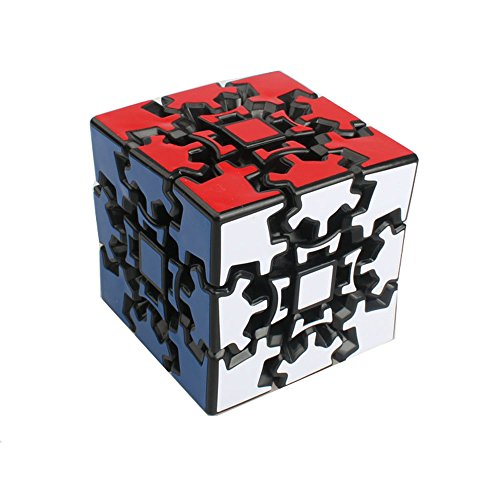 HJXDtech - Professioneller Zauberwürfel! Kreative Geschwindigkeit Glatte 3 x 3 x 3 Zahnrad Cube Qualität Pädagogisches Puzzle Cube Geschenk Spielzeug (Schwarz) - Zahnrad-puzzle