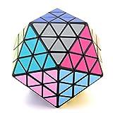 Ysss Cubo con Forma de icosaedro Colección Profesional Negra Cubo de Rubik