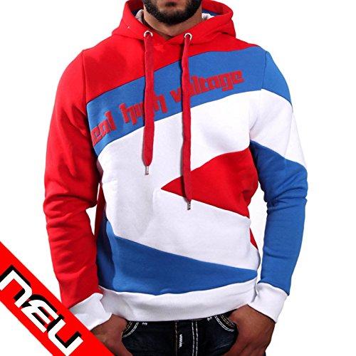 R-NEAL Kapuzensweater regular fit rot/blau/weiss