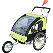 2in1 Jogger Kinderanhänger Fahrradanhänger Kinder Radanhänger 5 Farben zur Auswahl Neu
