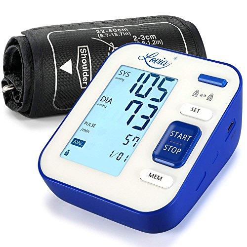 Blutdruckmessgerät,LOVIA Oberarm Blutdruck messgeräte,Professionelle Digital Vollautomatisch Blutdruckmessgeräte Für Blutdruckmessung Und Eine Pulsmessung,2 User-Modus,120 Speicherplätze,LCD Großem Display, CE und FDA Zertifizierung