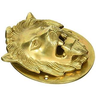 Aakrati VZH366 Lion Door Knocker of Brass Yellow