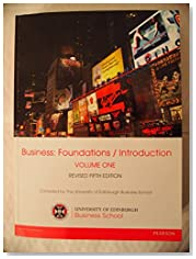 Business: Foundations/Introduction Volume One