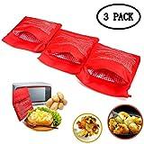 KAIMENG Bolsa de Cocina para microondas, Bolsa Expresa De Patata (3 Piezas)