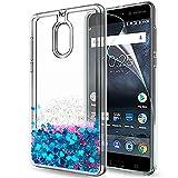 LeYi Coque Nokia 6 Liquide Paillette Etui avec Film de Protection écran, Fille...
