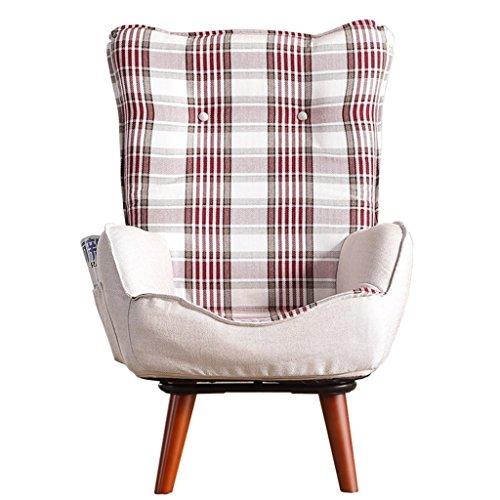 YANG HONG SHOP JL YH Einzelne Drehbare Faule Couch Fütterung Stuhl Stillstuhl Kleine Wohnung Balkon Lounge Sessel Schlafzimmer Sofa Hohe Rückenlehne - (Farbe : C) -