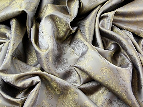 Paisley Weave Jacquard Futter Stoff 5 Old Gold – Meterware + Craft Guide (Gold Stoff-futter)
