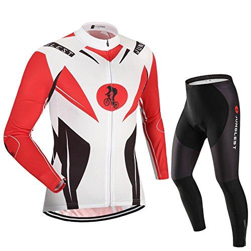 Maillot de Cyclisme Homme Manches Longues jersey(S~5XL,option:Cuissard,3D Coussin) N62