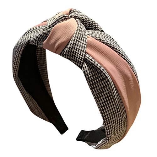 erkauf Frauen gestreiftes Stirnband Bogen Stirnband mit Stirnband Haarband (Rosa) ()