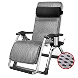 WJJJ Stuhl Lehnstuhl Klappstuhl Gartenstuhl Stuhl Mittagspause Stuhl Lazy Chair Sessel Verstellbarer multifunktionaler Sonnenstuhl (Farbe: Stuhl + Kissen 3)