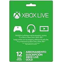 Suscripción XBOX LIVE GOLD de 12 meses