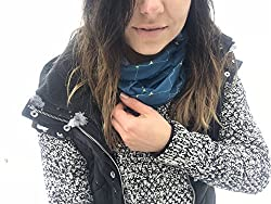 Atlas Blue Green Multifunctional Seamless Bandana Scarf By ARCTIC FOX: Unisex Neck Warmer, Ski Face Mask For Outdoor Activities – Versatile Snood, Headband For Snowboarding, Hiking, Camping, Running from Arctic Fox