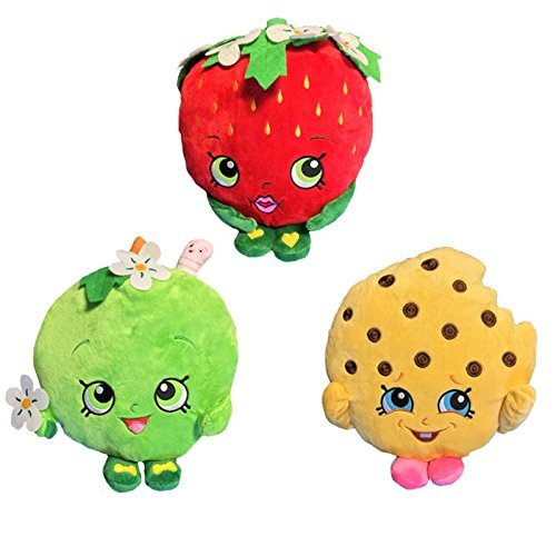 "Shopkins 6"" Deluxe Plush Figure Set of 3"
