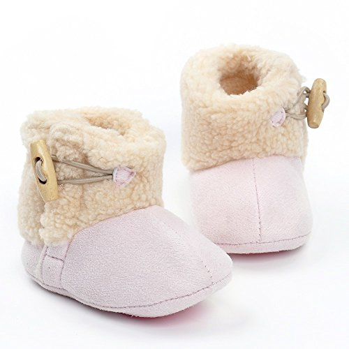 ESTAMICO , Baby Mädchen Krabbelschuhe & Puschen khaki 12-18 Monate Rose