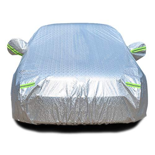 MKJYDM Die Autoabdeckung Ist Regenfest, Winddicht, Staubdicht, UV-beständig, Nicht Brennbare Aluminiumfolie, Aluminiumfolie Kleidungsstück, Geeignet for Modelle Autoabdeckung (Color : A4) - Logo Kleidungsstück