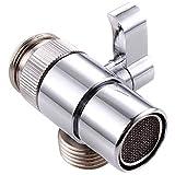 3-Wege Brause Dusche Umschaltventil,Massives Messing Chrom poliert,Schaltventil,Dusche Adapter,Für Küche und Bad,Silber