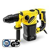TROTEC Bohrhammer PRDS 10-230V (1500W, 5 J, Bohrleistung in Mauerwerk/Ziegel Ø 32 mm, SDS-Plus-Aufnahme, inkl. Bohr- und Meißelset, Zusatzhandgriff, im Koffer)