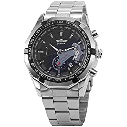 AMPM24 Men Automatic Mechanical Analog Date Display Stainless Sport Wrist Watch + AMPM24 Gift Box PMW103