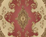 A.S. Création Tapete Hermitage neo barock 10,05 m x 0,53 m metallic rot Made in Germany 682918 6829-18