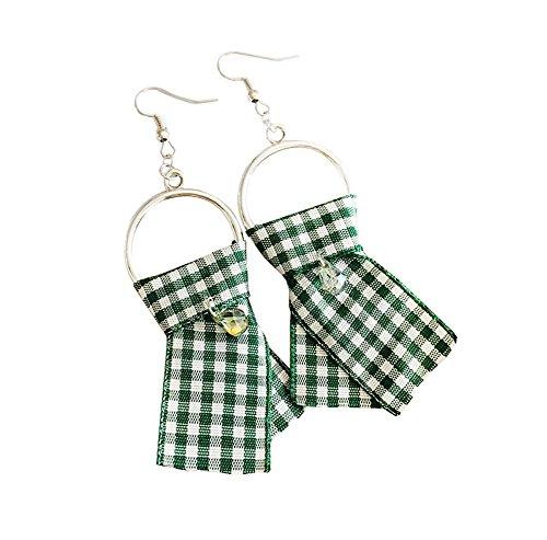 Boucles d'Oreilles Classiques Easy Matching Boucles d'Oreilles Individuality Drop, 1 paire, vert
