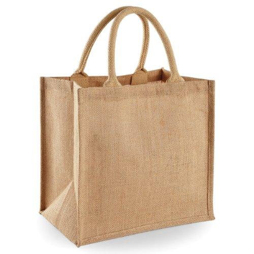 Westford Mill Jute-Tasche / Jute-Einkaufstasche, 14 Liter (One Size) (Natur)