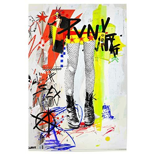 40 cm Abstrakt Skinz hochwertiger Design Kunstdruck - Bild Streetstyle Strumpfhose strümpfe ()