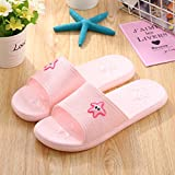 fankou Slippers female summer home en-suite bathroom non-slip soft water leaks out of the home sweet home cool slippers male couples,35-36, Pink
