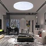 VINGO® Lámpara de techo Lámpara con efecto de destello Iluminación infantil de techo Iluminación de techo para baño [Clase de eficiencia energética A++] (50W blanco frío)