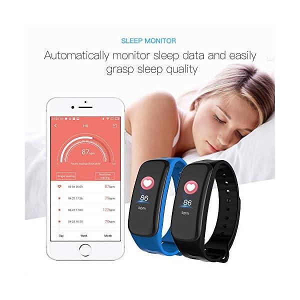 VEVICE - Pulsera de actividad, con control de ritmo cardíaco, contador de pasos, rastreador de actividad inteligente… 9